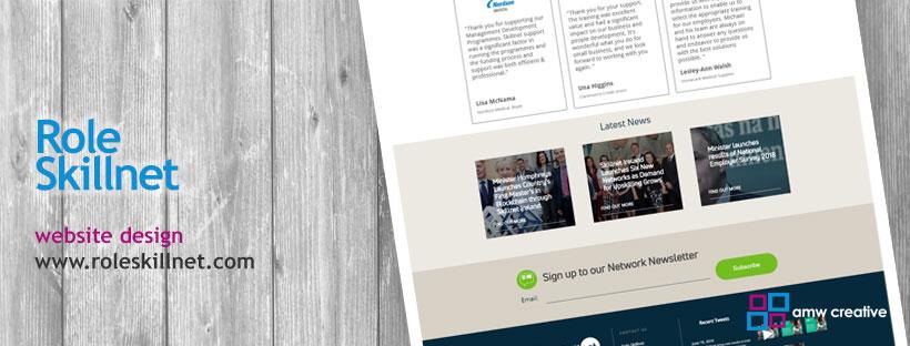 Website and Brochure Design for Role Skillnet